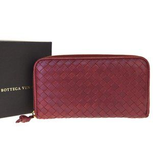 Bottega Veneta Intrecciato Leather Long Bill Walle